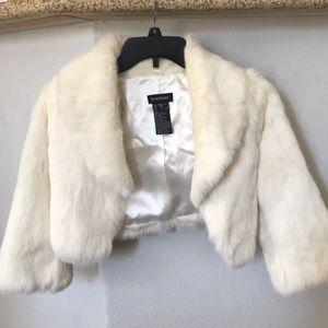 Bebe Rabbit Fur Shrug